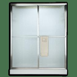 AMERICAN STANDARD AM00770.422 RAIN GLASS PRESTIGE EURO FRAMED BY-PASS SLIDING SHOWER DOORS FITS 46 TO 48 INCH WIDTH OPENINGS