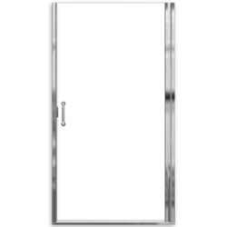 """AMERICAN STANDARD AM0304D.400 CLEAR GLASS EURO FRAMELESS PIVOT HINGE SHOWER DOORS WITH """"D"""" HANDLE FITS 34-3/16 TO 35-1/16 INCH WIDTH OPENINGS"""