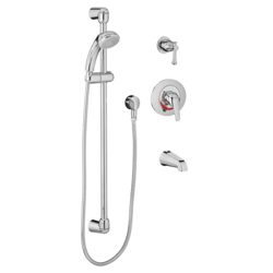 AMERICAN STANDARD 1662.212.002 FLOWISE 1.5 GPM SHOWER SYSTEM KIT WITH HAND SHOWER AND TUB SPOUT