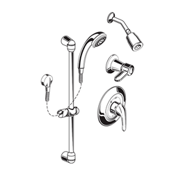 AMERICAN STANDARD 1662.213.002 FLOWISE 1.5 GPM SHOWER SYSTEM KIT WITH HAND SHOWER AND SHOWER HEAD