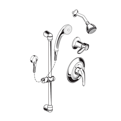 AMERICAN STANDARD 1662.223.002 2.5 GPM SHOWER SYSTEM KIT WITH HAND SHOWER AND SHOWERHEAD