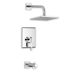AMERICAN STANDARD T184.501 TIMES SQUARE SHOWER TRIM PACKAGE WITH 2.5 GPM SINGLE FUNCTION FLOWISE RAIN SHOWER HEAD