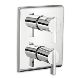 AMERICAN STANDARD T184.740 TIMES SQUARE TWO-HANDLE THERMOSTATIC MIXING VALVE TRIM ONLY