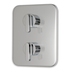 AMERICAN STANDARD T506.740.002 MOMENTS TWO-HANDLE THERMOSTATIC MIXING VALVE TRIM AND CARTRIDGE IN CHROME