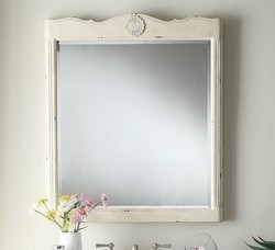 CHANS FURNITURE MIR081WP DALEVILLE 32 INCH DISTRESSED CREAM WALL MIRROR