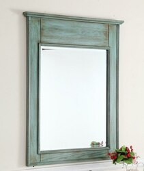 CHANS FURNITURE MR-88323 ABBEVILLE 24 INCH DISTRESSED BLUE WALL MIRROR