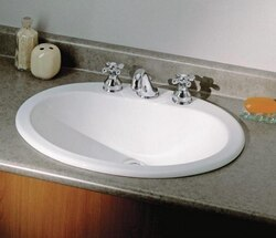 CHEVIOT 1170-WH-8 23-5/8 INCH BELVILLE DROP-IN BASIN IN WHITE