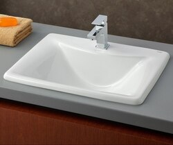 CHEVIOT 1188-WH 21-1/4 INCH BALI DROP-IN BASIN IN WHITE
