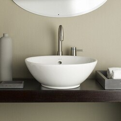 CHEVIOT 1200-WH 16-7/8 INCH WATER LILY VESSEL SINK IN WHITE