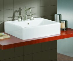 CHEVIOT 1230/19-WH-1 19-3/4 INCH NUOVELLA VESSEL SINK IN WHITE