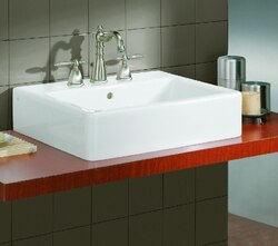 CHEVIOT 1230/23-WH-1 23-5/8 INCH NUOVELLA VESSEL SINK IN WHITE
