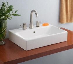 CHEVIOT 1234-WH-8 23-5/8 INCH NUO VESSEL SINK IN WHITE