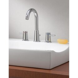 CHEVIOT 7788-CH CONTEMPORARY TWO HANDLE WIDESPREAD LAVATORY FAUCET IN CHROME FINISH