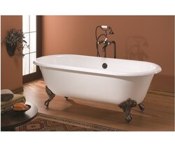 CHEVIOT 2111-BB REGAL CAST IRON BATHTUB WITH CONTINUOUS ROLLED RIM IN BISCUIT