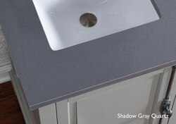 JAMES MARTIN 050-S26-SHG-SNK 26 INCH SINGLE SHADOW GRAY QUARTZ TOP WITH SINK, 3 CM
