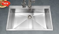 HOUZER BLS-3322 BELLUS 33 INCH ZERO RADIUS TOPMOUNT LARGE SINGLE BOWL
