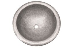 HOUZER HW-AUG2RS HAMMERWERKS 16-3/4 INCH COPPER AUGUST LARGE ROUND LAVATORY SINK