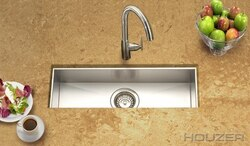 HOUZER CTB-2385 CONTEMPO 23 INCH ZERO RADIUS UNDERMOUNT TROUGH BAR/PREP SINK