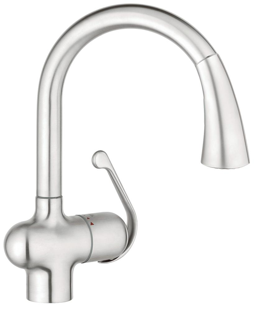 Grohe 33755SD1 Ladylux Single-Handle Kitchen Faucet