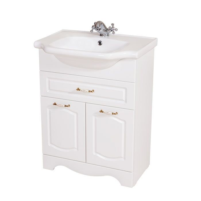 NAMEEKS CLA-F01 CLASSIC 23 INCH WHITE VANITY CABINET WITH FITTED SINK