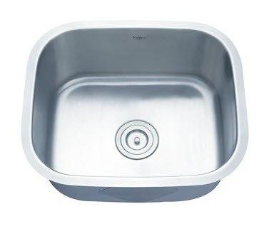 Kraus KBU11 20 Inch Undermount 16 Gauge Single Bowl Kitchen Sink