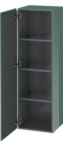 DURAVIT LC1178 L-CUBE 15-3/4 X 14-1/3 INCH SEMI-TALL CABINET WITH ONE DOOR AND THREE GLASS SHELVES