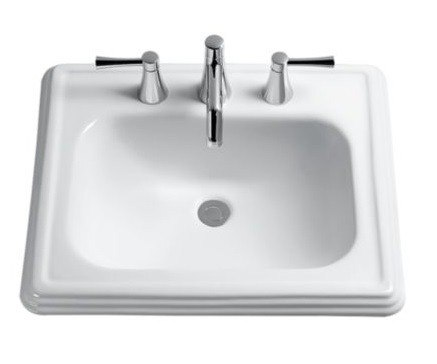 TOTO LT531.8 PROMENADE 22-1/2 X 18-3/4 INCH SELF-RIMMING LAVATORY WITH 8 INCH FAUCET CENTER