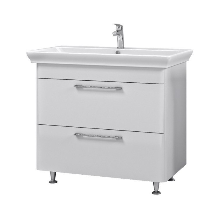 NAMEEKS PA-F02 PAOLA 37 INCH WHITE VANITY CABINET WITH FITTED SINK