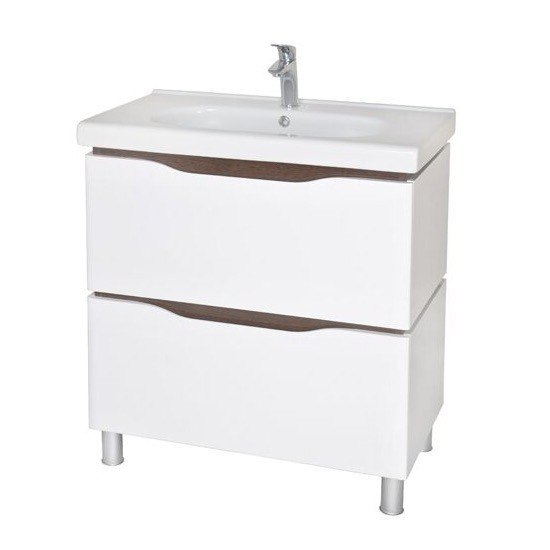 NAMEEKS VN-F02 VENICE 31 INCH WHITE VANITY CABINET WITH FITTED SINK