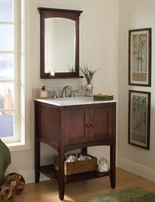 Sagehill Designs AL2421 Allure 24 Inch Urban Living Group Vanity Base with Two Doors