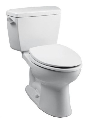TOTO CST744EFR.10#01 ECO DRAKE TWO PIECE ELONGATED 1.28 GPF TOILET WITH E-MAX FLUSH SYSTEM AND RIGHT HAND TRIP LEVER - LESS SEAT