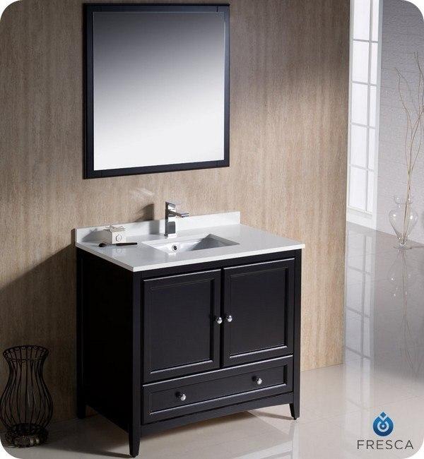 Fresca Fvn2036es Oxford 36 Inch Espresso Traditional Bathroom Vanity Fresca Vanity Fresca