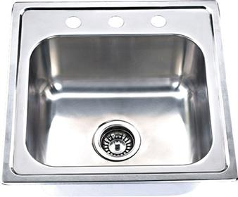 Yosemite Home Décor MAGUS2020 20 Inch Top Mount Single Bowl Kitchen Sink