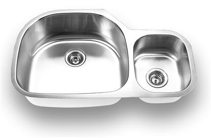 Yosemite Home Décor MAGNUM 3520 35 Inch Undermount Double Bowl Kitchen Sink
