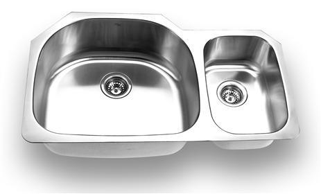 Yosemite Home Décor MAG3521 35 Inch Undermount Double Bowl Kitchen Sink