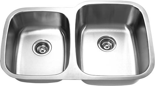 Yosemite Home Décor MAG503R 32 Inch Undermount Double Bowl Kitchen Sink - Satin