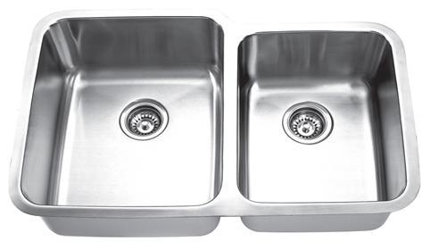 Yosemite Home Décor MAG8503L 31 Inch Undermount Double Bowl Kitchen Sink