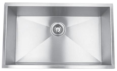 Yosemite Home Décor MAGRA3219C 32 Inch Undermount Right-Angled Single Bowl Kitchen Sink