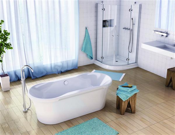 Fleurco BHA7235-18 Aria Harmony 72 Inch Lucite Acrylic Bathtub