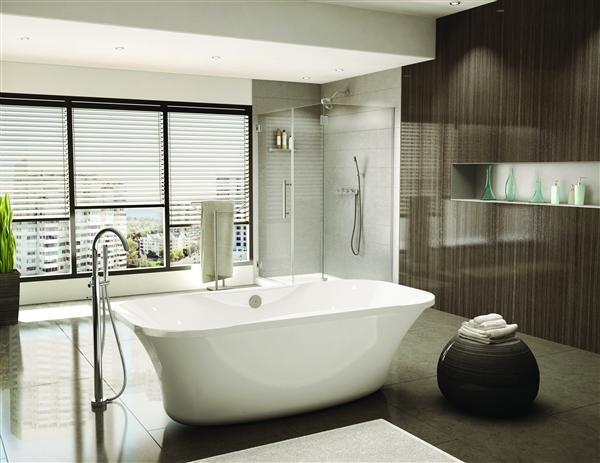 Fleurco BPR7035-18 Aria Prelude 70-7/8 Inch Lucite Acrylic Bathtub