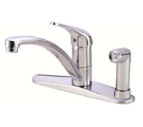 Danze D405612  Melrose Single Handle Kitchen Faucet w/ Spray Product Chrome