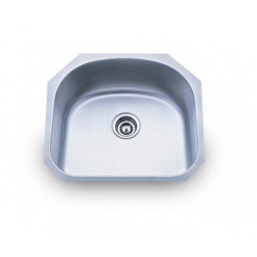 Lada LD2123 D-Shaped 23 1/4 Inch Undermount Single Bowl Sink