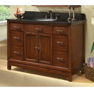 Sagehill Designs MD4821D Modena 48 Inch Solid Maple Wood Vanity Cabinet