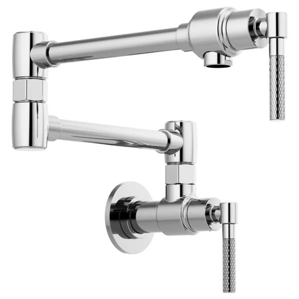BRIZO 62843LF LITZE WALL-MOUNT POT FILLER WITH KNURLED HANDLE