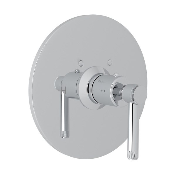 ROHL A4914IL CAMPO THERMOSTATIC TRIM PLATE WITHOUT VOLUME CONTROL, INDUSTRIAL METAL LEVERS