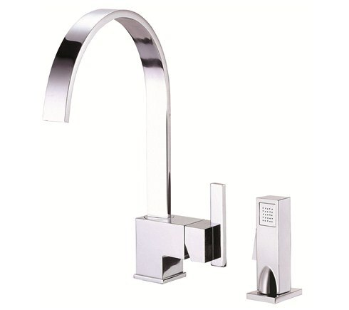Danze Sirius Single Handle Kitchen Faucet with Spray Product D401544 Chrome