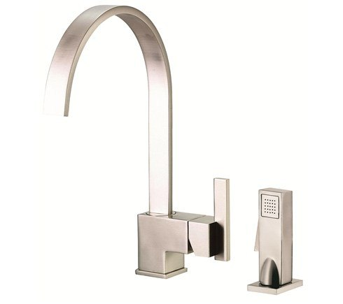 Danze D401544SS Sirius Single Handle Kitchen Faucet with Spray Product Stainless Steel