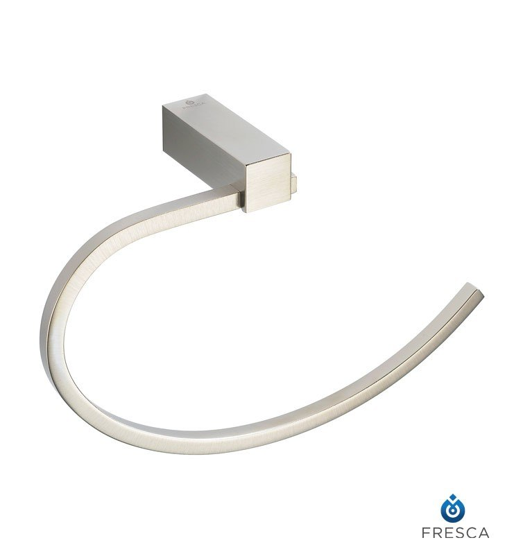 Fresca FAC0425BN Ottimo Towel Ring - Brushed Nickel
