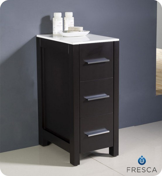 bathroom side cabinet fresca fst6212es torino 12 inch espresso bathroom linen 11647