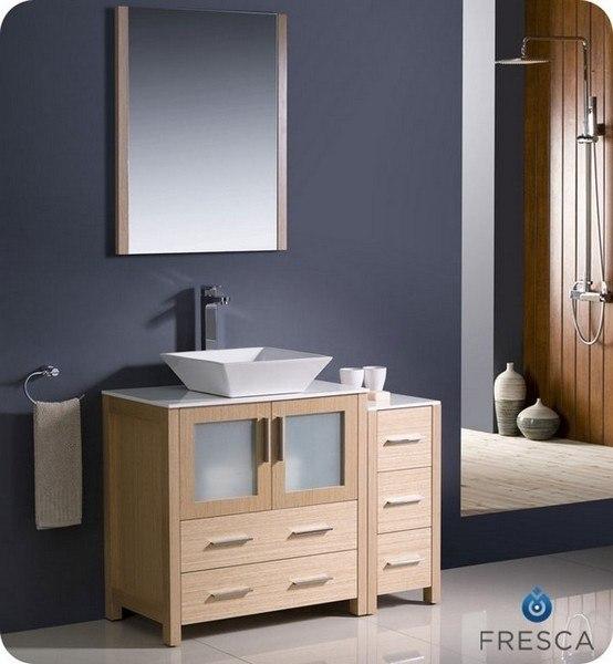 Fvn62 3012lo Vsl Torino 42 Inch Light Oak Modern Bathroom